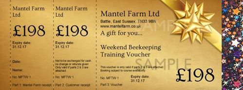 £198 Beekeeping Weekend Training Voucher