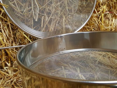 Double Honey Strainer Stainless Steel