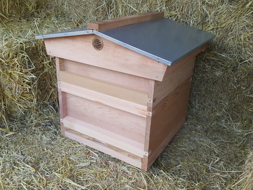 National Hive with Pitched Roof - Western Red Cedar
