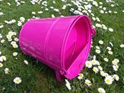 Poultry Drinker Pink - 4Ltr Painted Galvanised Metal