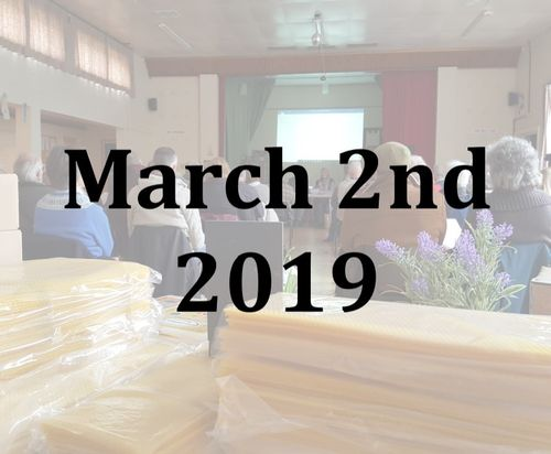 Sussex Beekeepers' Association AGM, Talks and Trade Stands 2nd March 2019