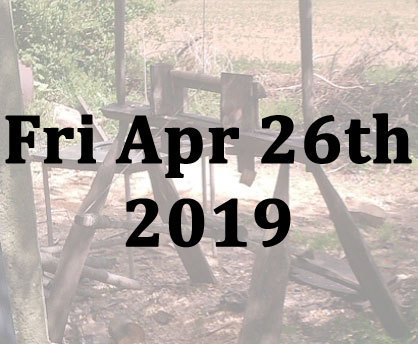 Wood turning on a pole lathe with Richard Ely - Fri 26th April 2019