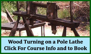 Wood turning on a pole lathe